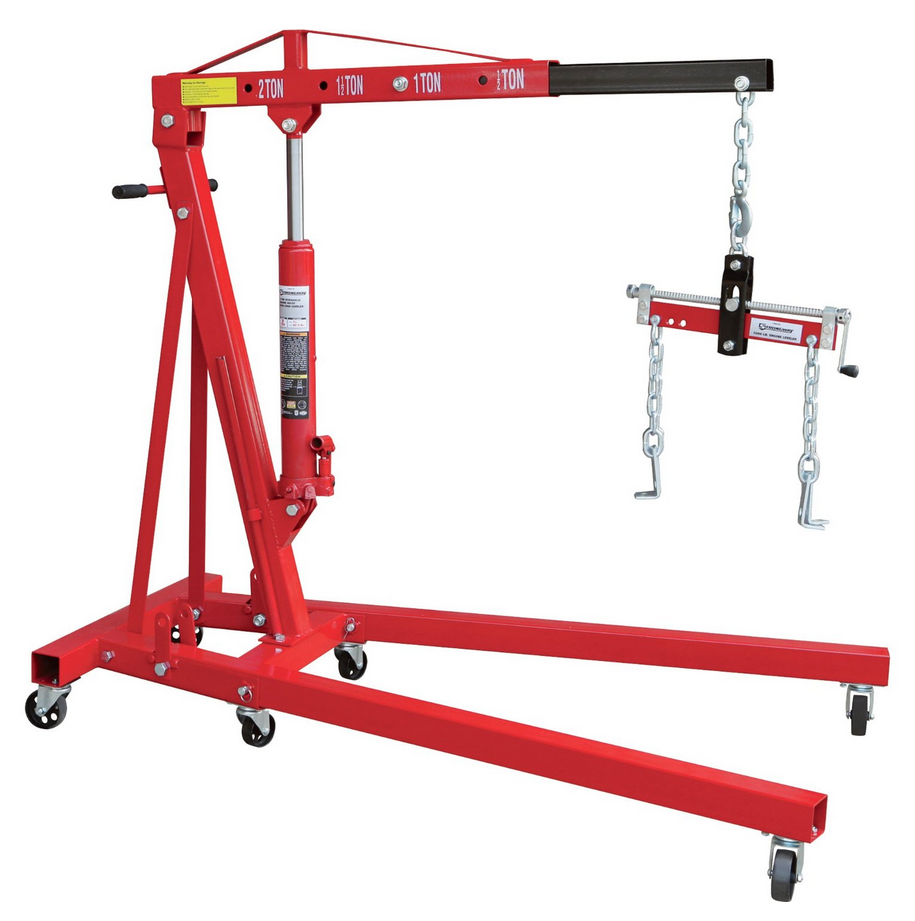 Strongway Engine Hoist With Load Leveler Review