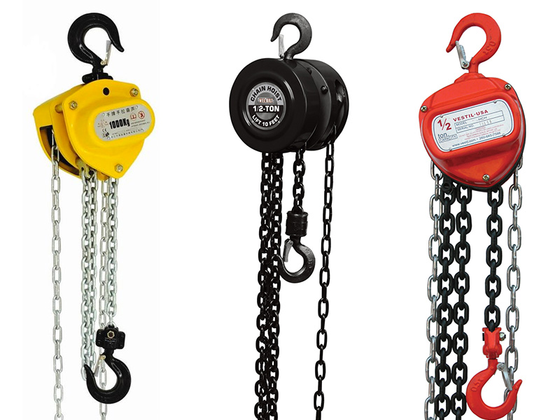 from what parts a manual chain hoist consists